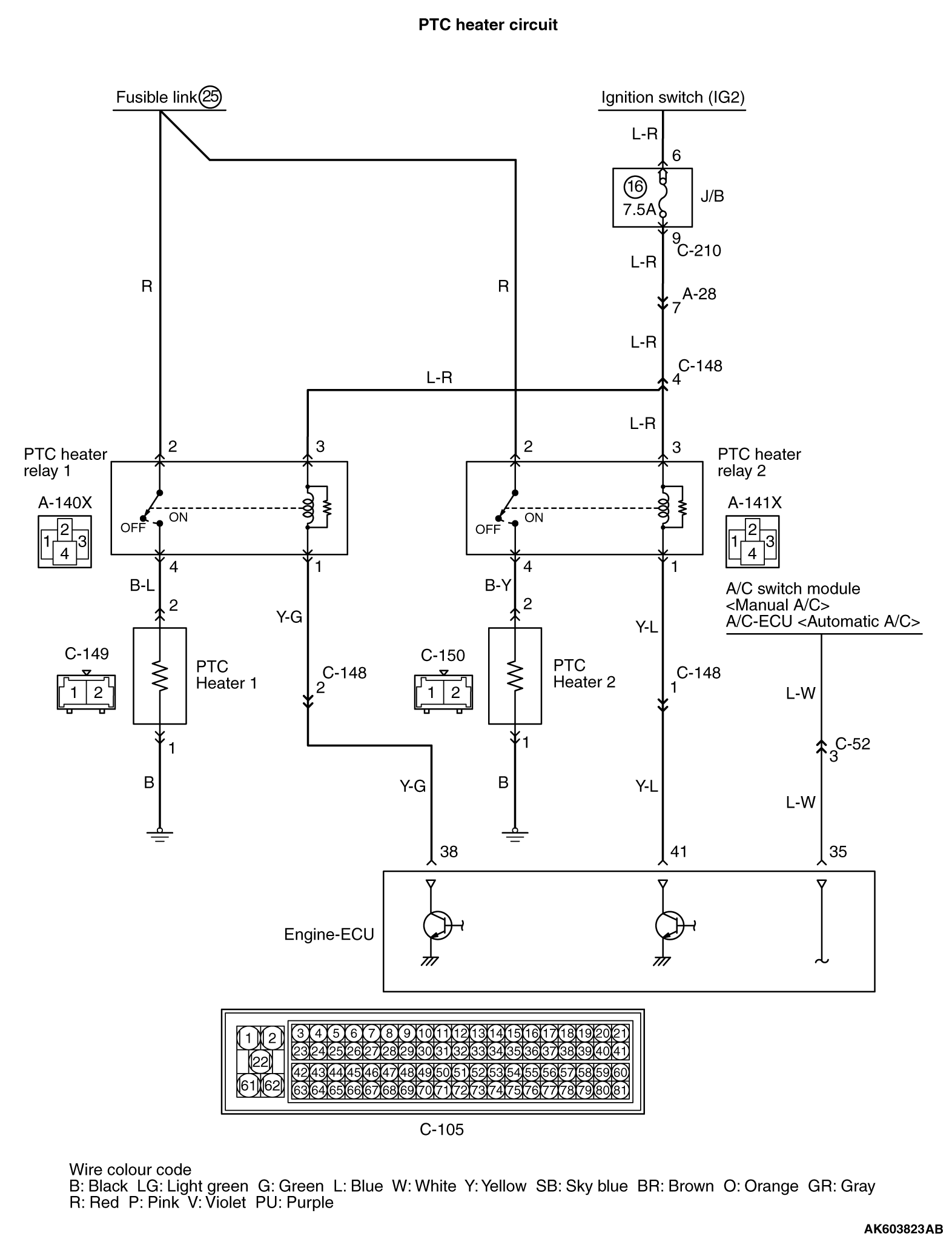 Inspection Procedure 24: PTC Heater Relay System <Vehicle with PTC ...