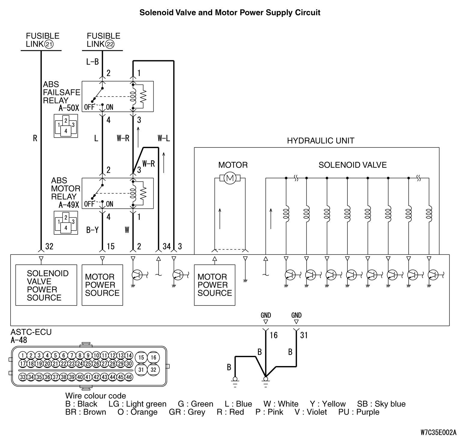 code no  c1278  solenoid valve relay  open circuit  code no c1279  solenoid valve relay  short