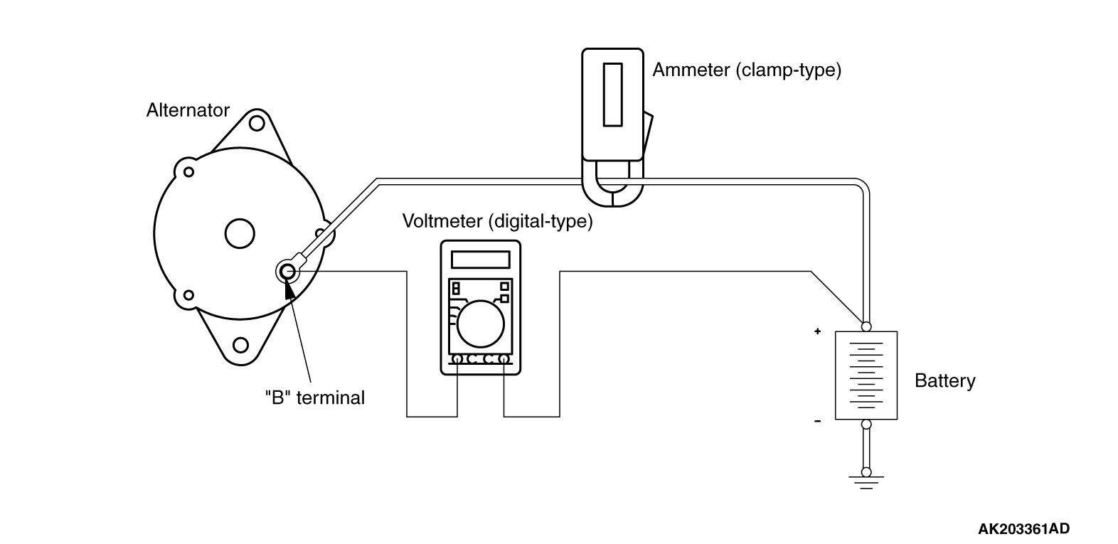 alternator voltmeter wiring diagram