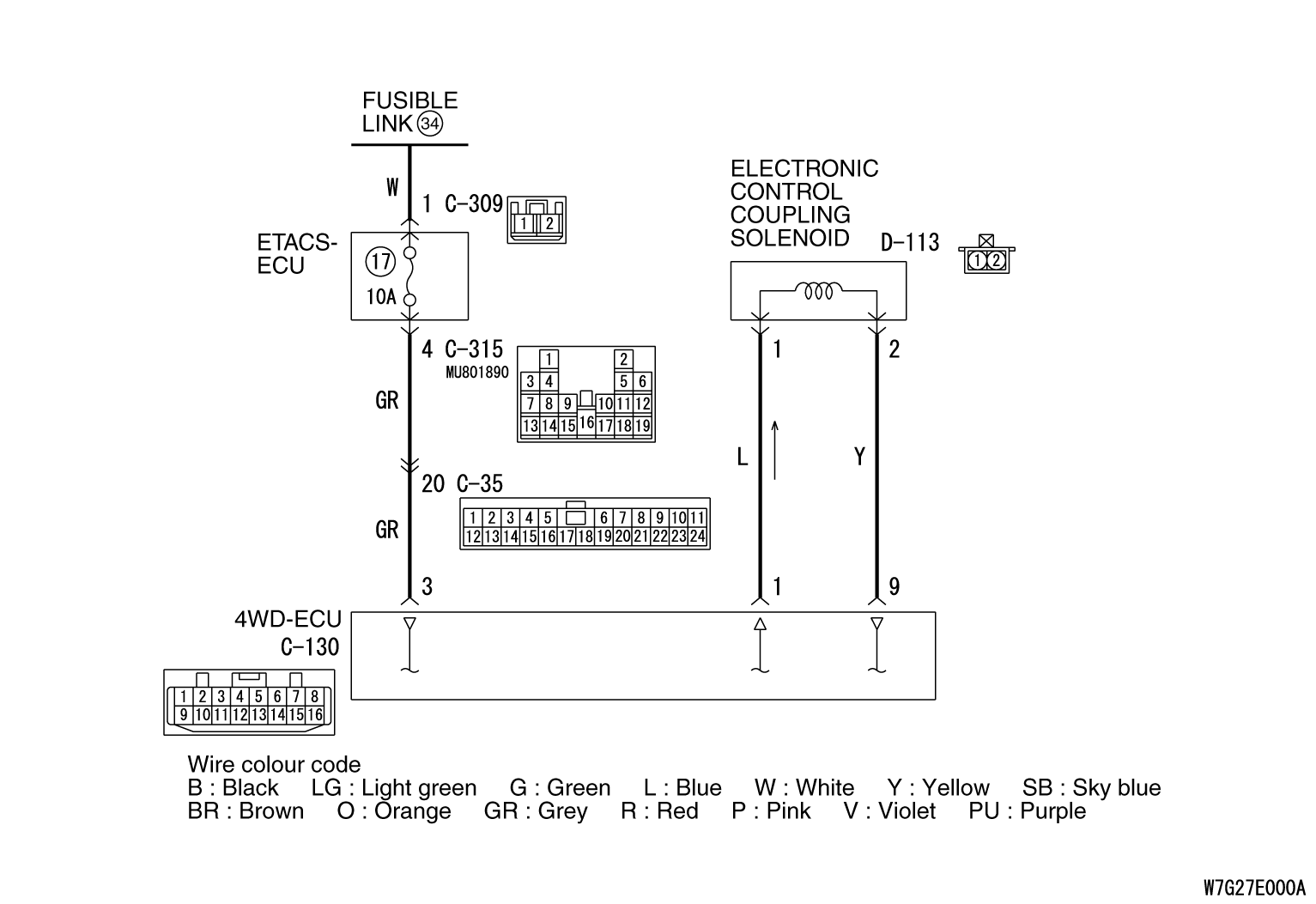 Code No  C145D: Wiring harness and coupling coil open circuit failure