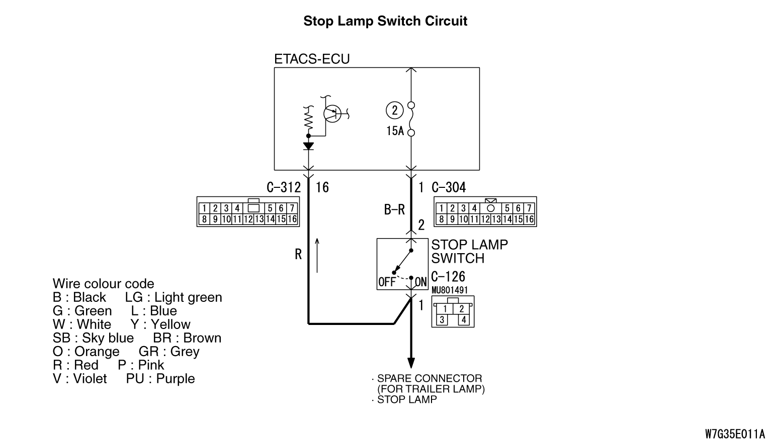 C1000 Abnormality In Stop Light Switch Circuit