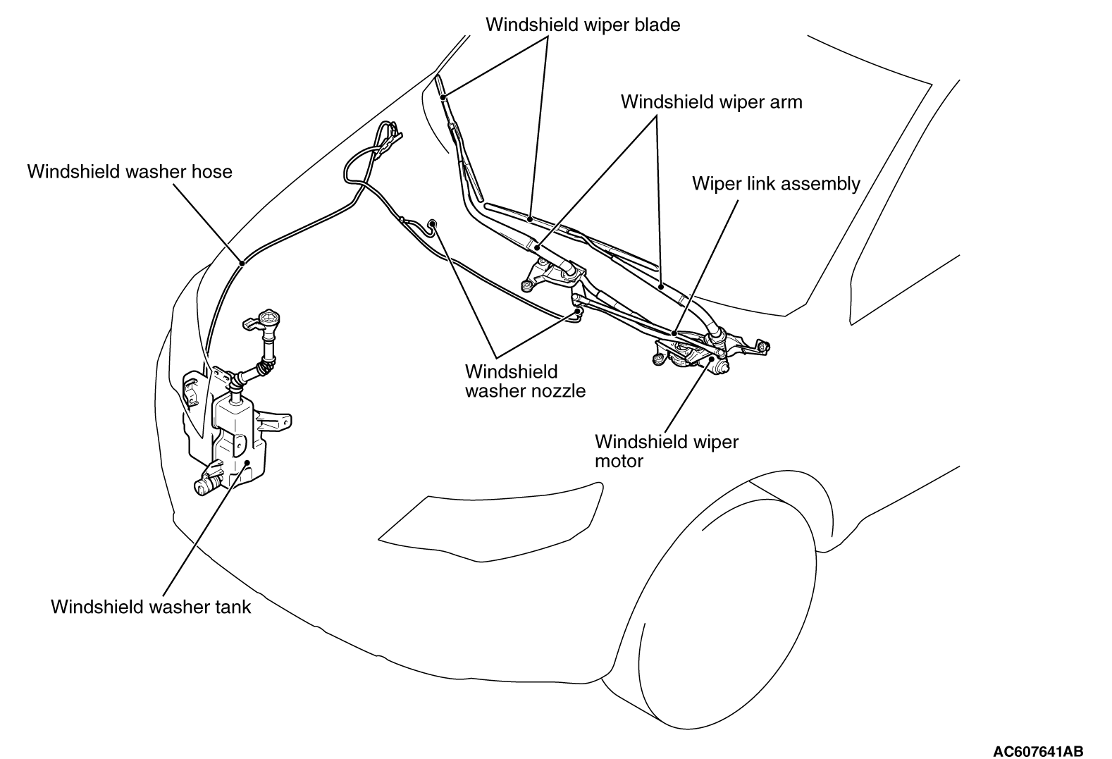 audi a4 rear wiper motor wiring diagram audi discover your windshield wiper blade diagram