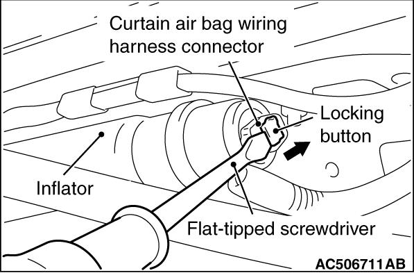Code No B1b22 Right Curtain Air Bag Module Squib System Open