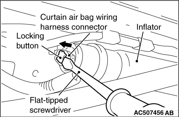 code no  b1b1b left curtain air bag module  squib  system