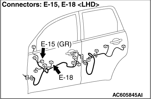 Inspection Procedure C 2 Drivers Power Window Does Not Work By