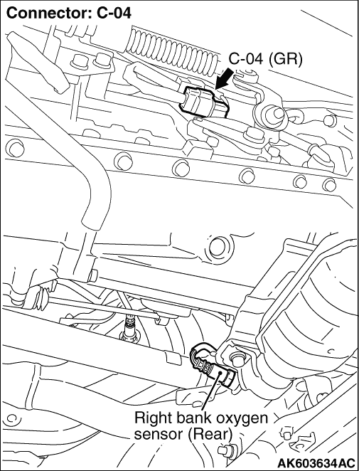 Code No P0136 Right Bank Oxygen Sensor Rear Circuit