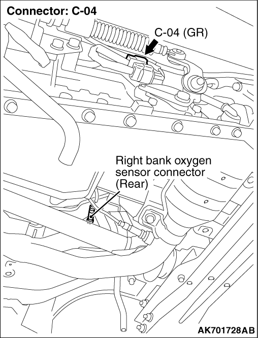 code no  p0141  right bank oxygen sensor  rear  heater system